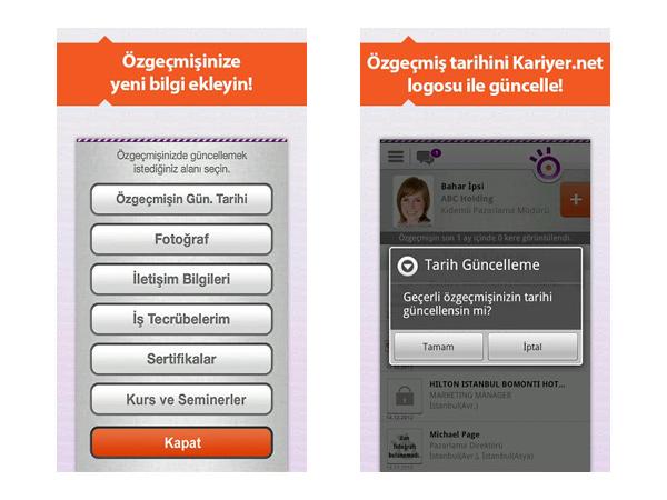 Kariyer.net İşAra akıllı telefon iş arama uygulaması