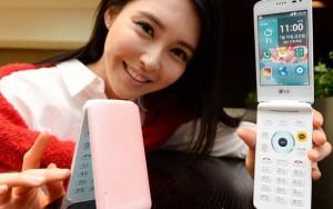 LG Ice Cream Smart kapaklı telefonda klavye ve dokunmatik ekran bir arada