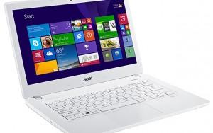 Acer V3 beyaz dizüstü bilgisayar