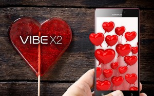 Lenovo Vibe X2 Sevgililer Günü'ne özel kırmızı cep telefonu