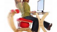 Aktif oturma sağlayan yaylı sandalye