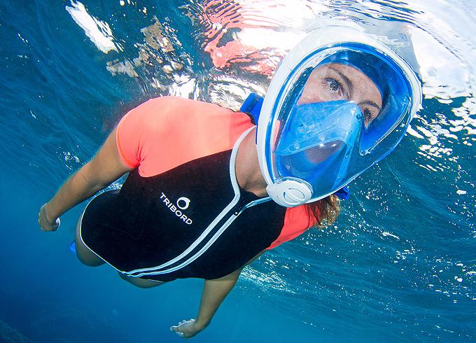 Decathlon maskesi ile su altında karadaki gibi nefes alın