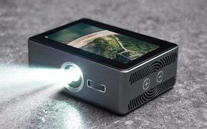 Dokunmatik ekranlı akıllı cep projektörü