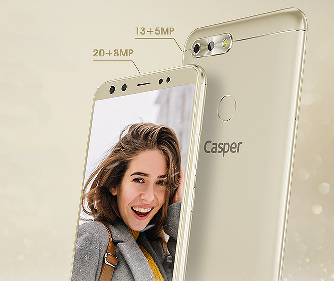 Casper Via F2 dört kameralı akıllı telefon