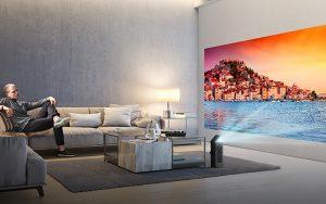 LG 4K projektör ile oturma odaları sinemaya dönüşüyor
