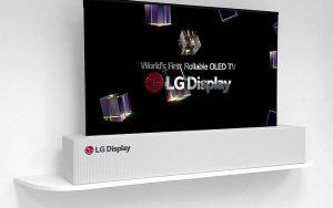 Rulo şeklinde katlanabilen LG OLED ekran