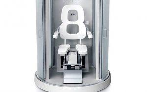 Engelliler için robot sandalye destekli duş kabini