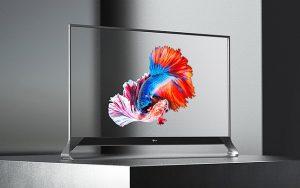 Şeffaf ekranlı televizyon