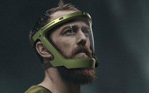 Su altında iletişim sağlayan yüz maskesi