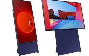 Samsung Sero dik ekranlı televizyon