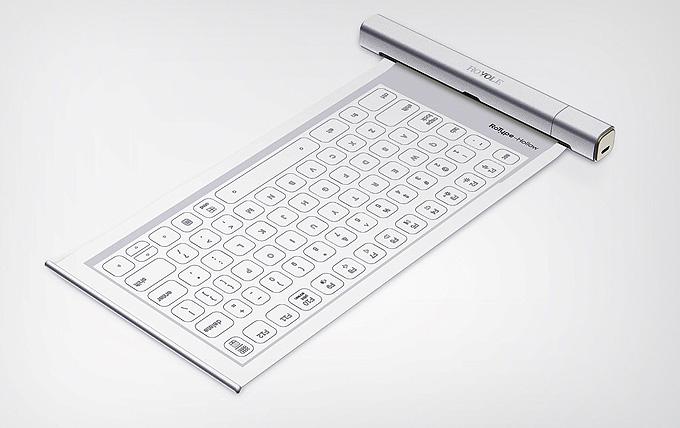 Rulo şeklinde katlanabilen pratik klavye