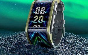 Katlanır 4 inç OLED ekranlı akıllı saat
