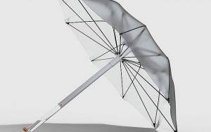 Yağmuru arıtarak içme suyu halinde depolayan şemsiye