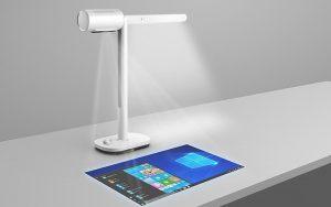 Hem masa lambası hem intreaktif projektör