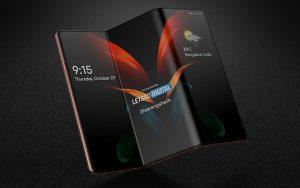 Samsung Galaxy Z Fold 3 çift katlanan ve sürgülü klavyeli akıllı telefon