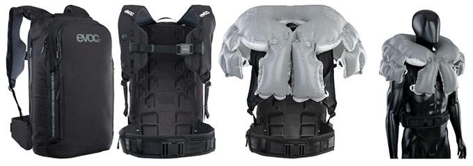 Sırt çantası şeklinde hava yastığı